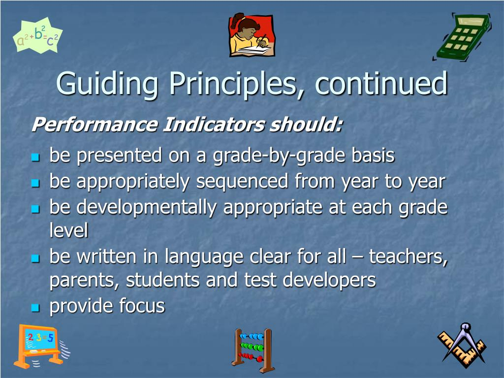 Guiding Principles, continued
