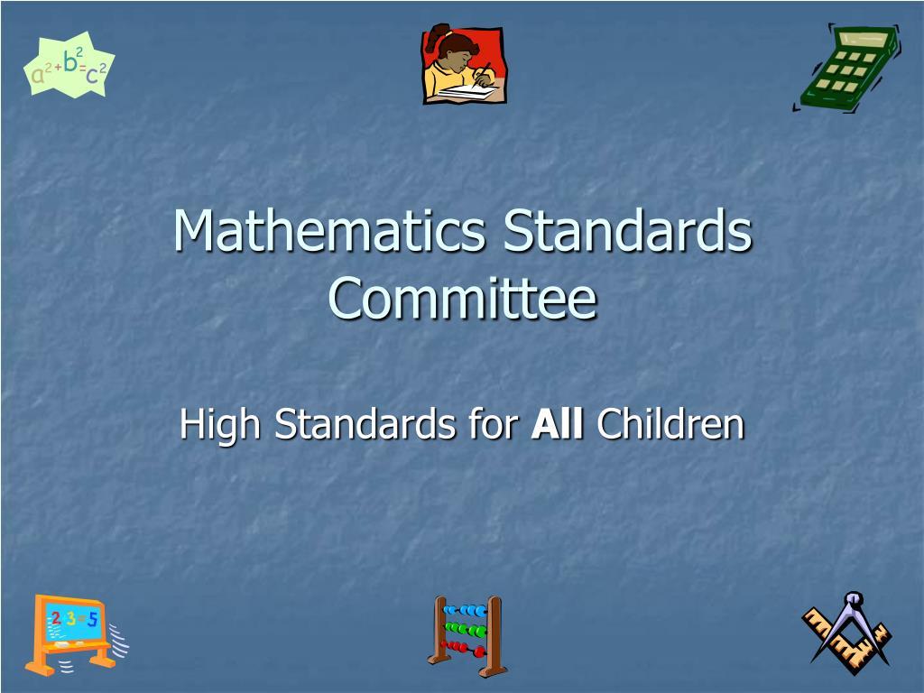 Mathematics Standards Committee