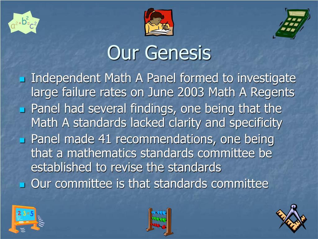 Our Genesis