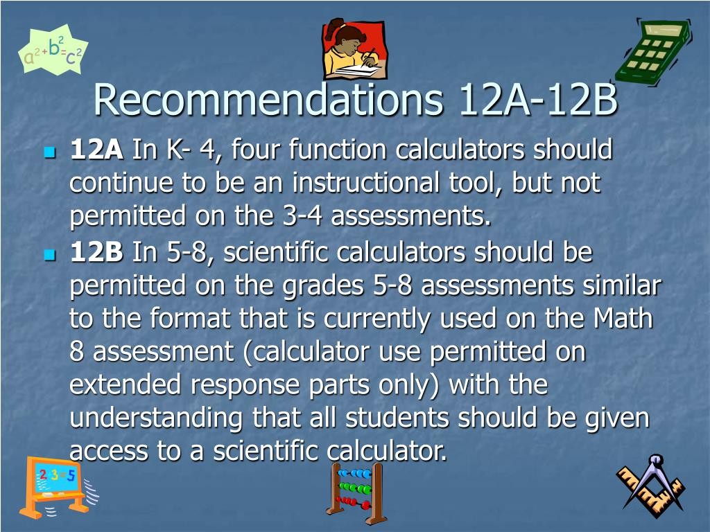 Recommendations 12A-12B