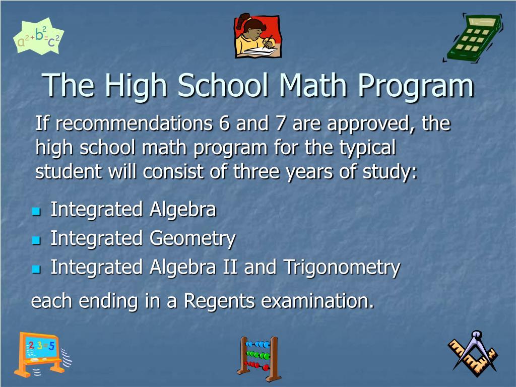 The High School Math Program