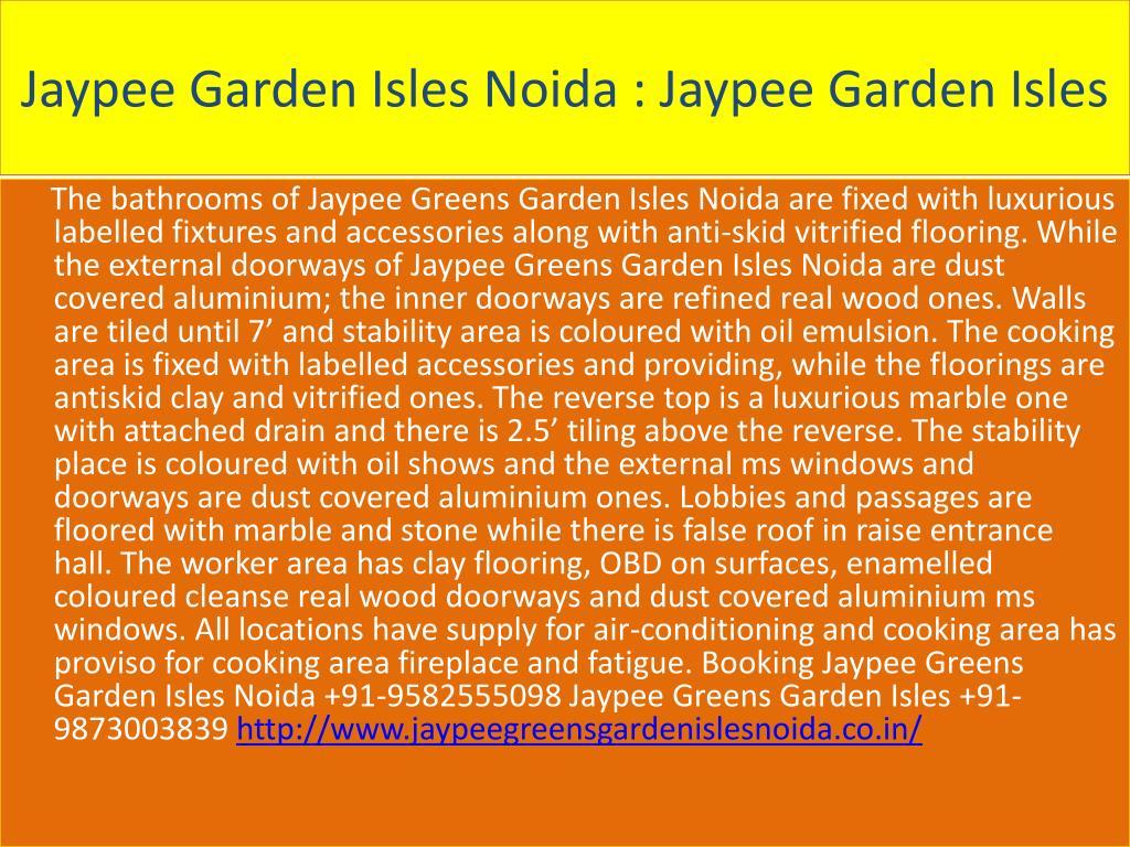 Jaypee Garden Isles Noida : Jaypee Garden Isles