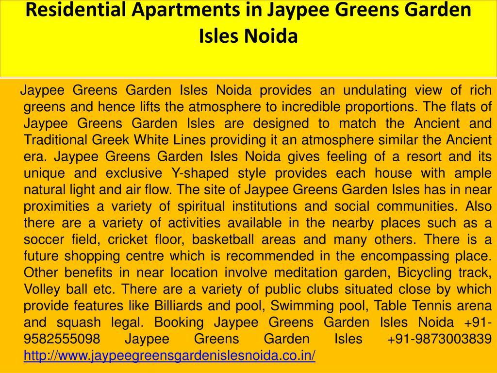 Residential Apartments in Jaypee Greens Garden Isles Noida