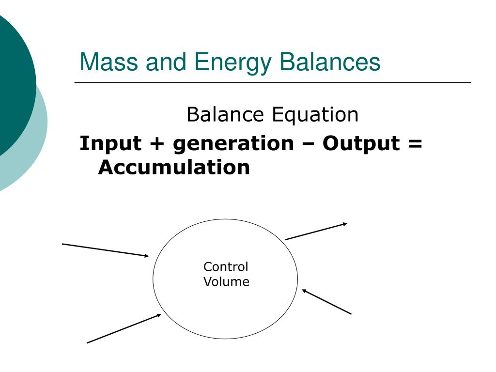 Mass and Energy Balances