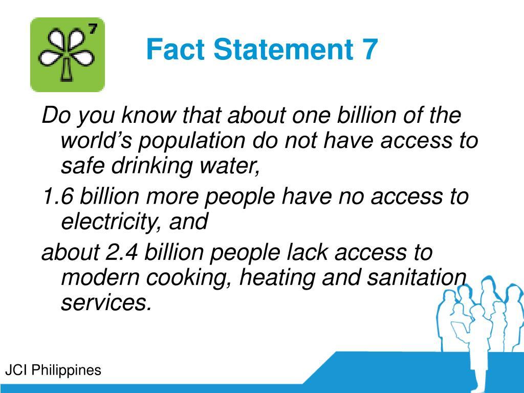 Fact Statement 7