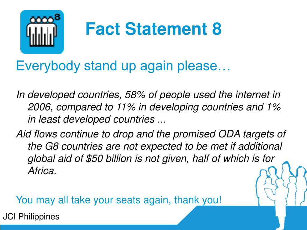 Fact Statement 8