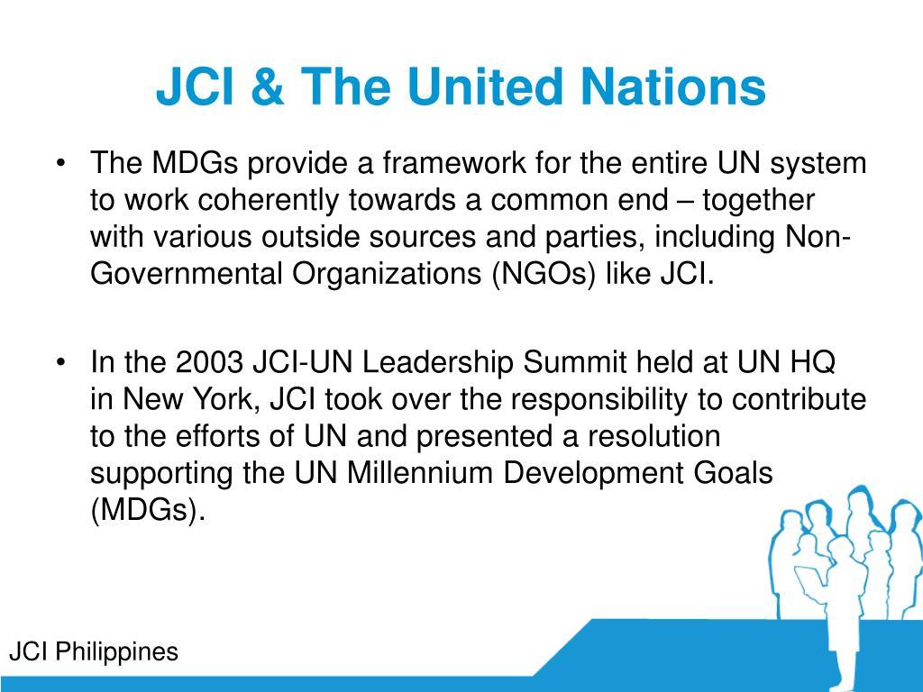 JCI & The United Nations