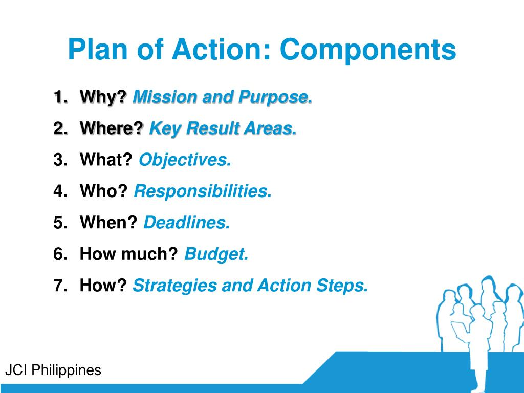 Plan of Action: Components