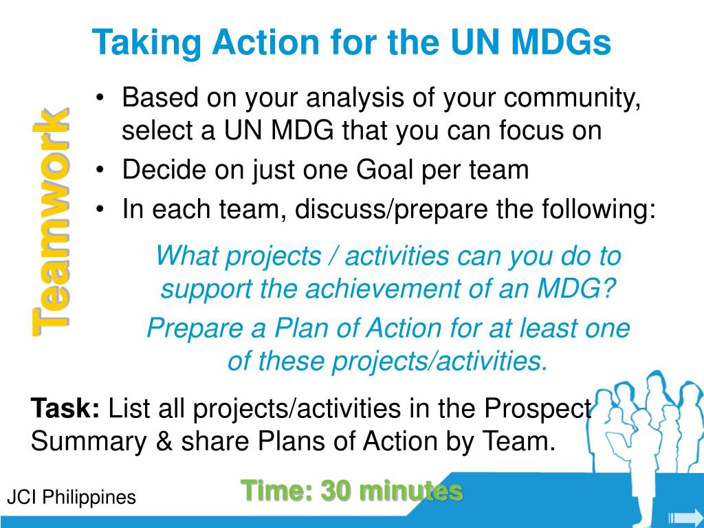 Taking Action for the UN MDGs