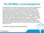 the un mdgs current perspective