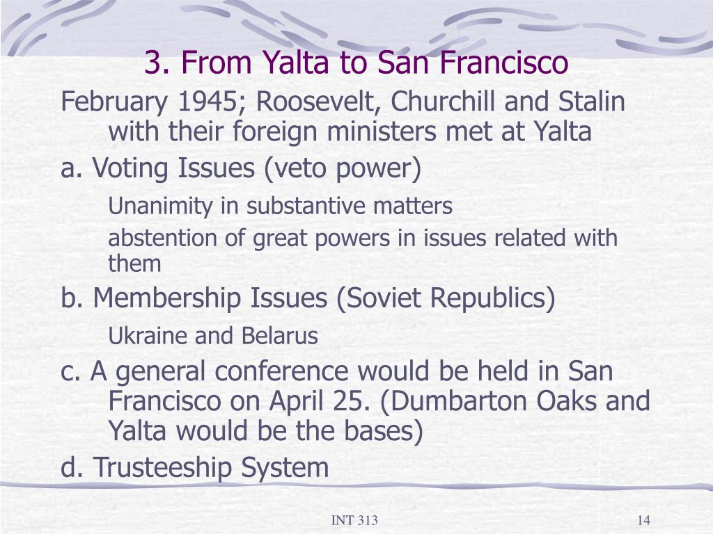 3. From Yalta to San Francisco