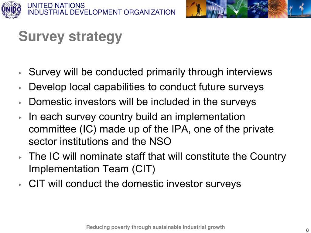 Survey strategy