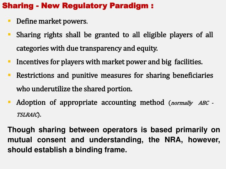Sharing - New Regulatory Paradigm :