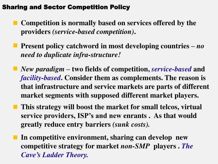 Sharing and Sector Competition Policy