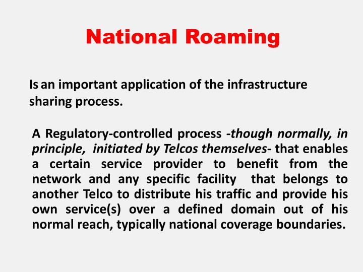 National Roaming