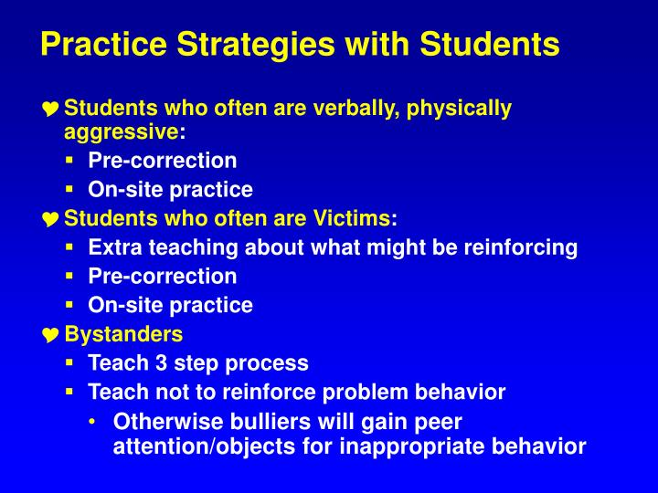Practice Strategies with Students
