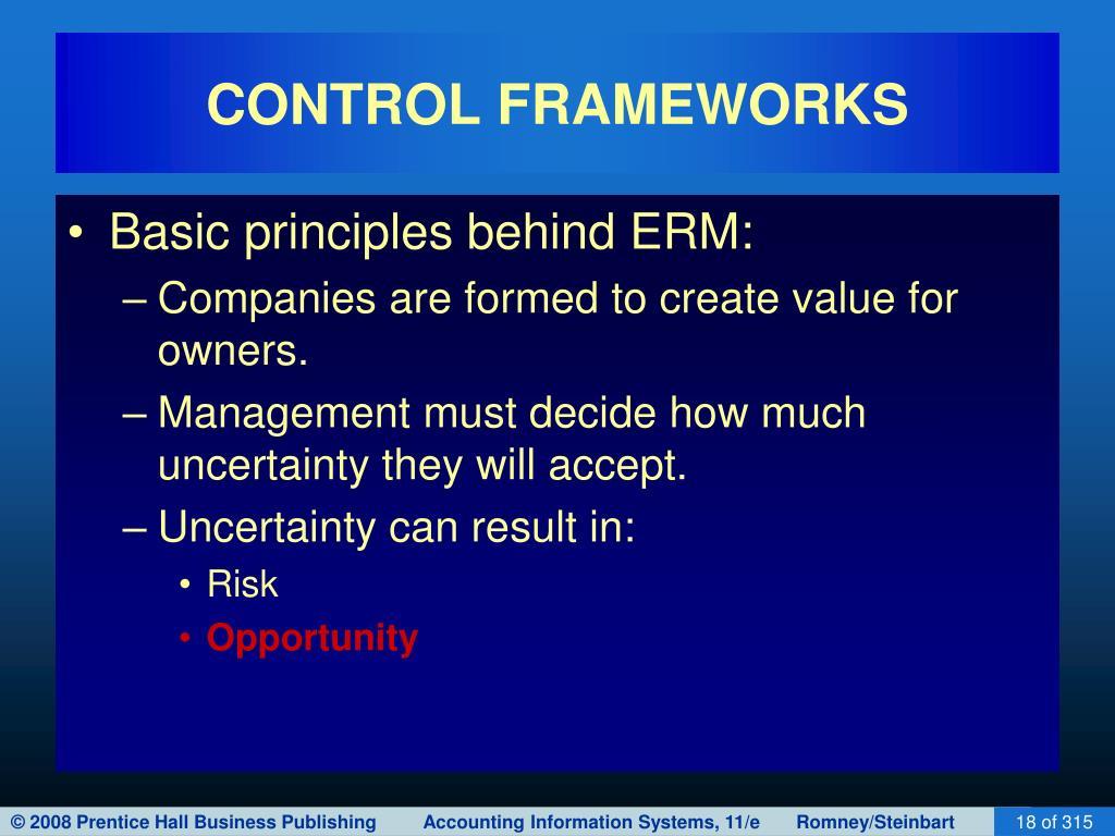 CONTROL FRAMEWORKS