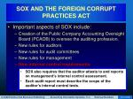sox and the foreign corrupt practices act10