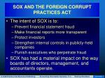 sox and the foreign corrupt practices act9