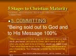 5 stages to christian maturity25
