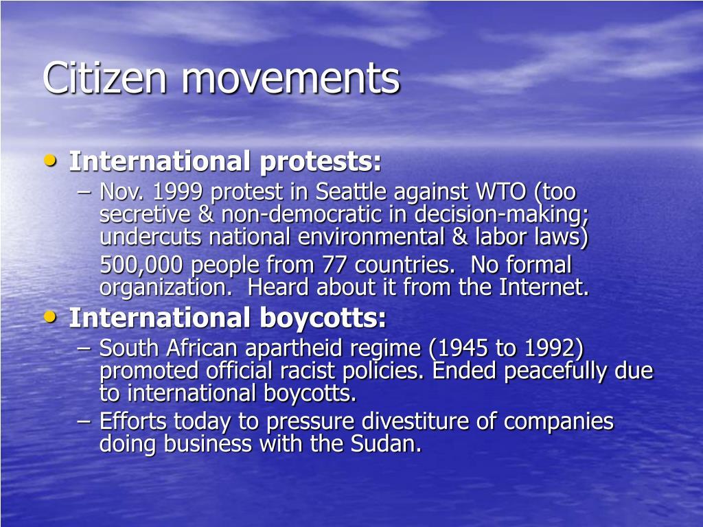 Citizen movements