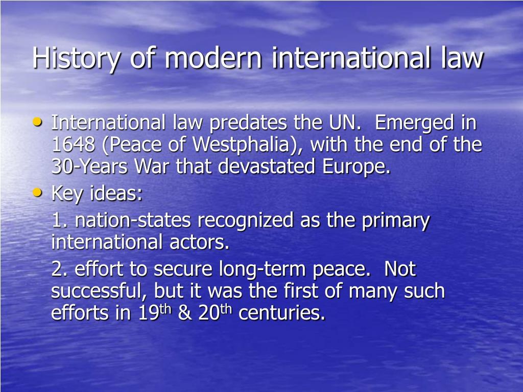 History of modern international law