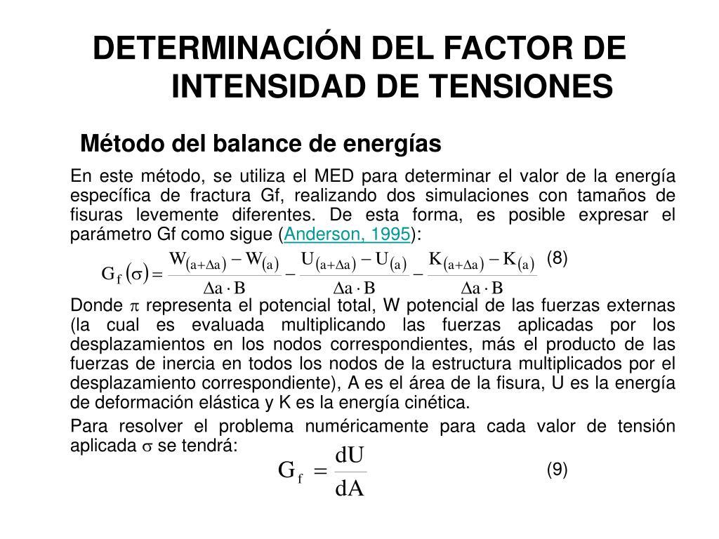 DETERMINACIÓN DEL FACTOR DE INTENSIDAD DE TENSIONES