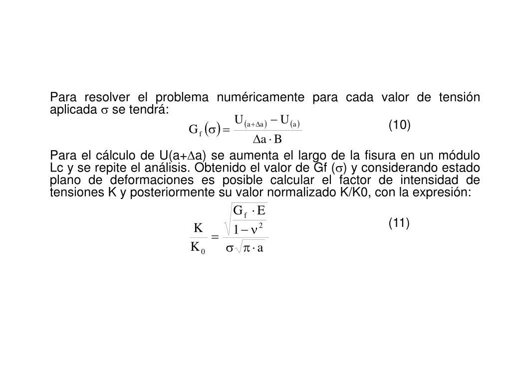 Para resolver el problema numéricamente para cada valor de tensión aplicada