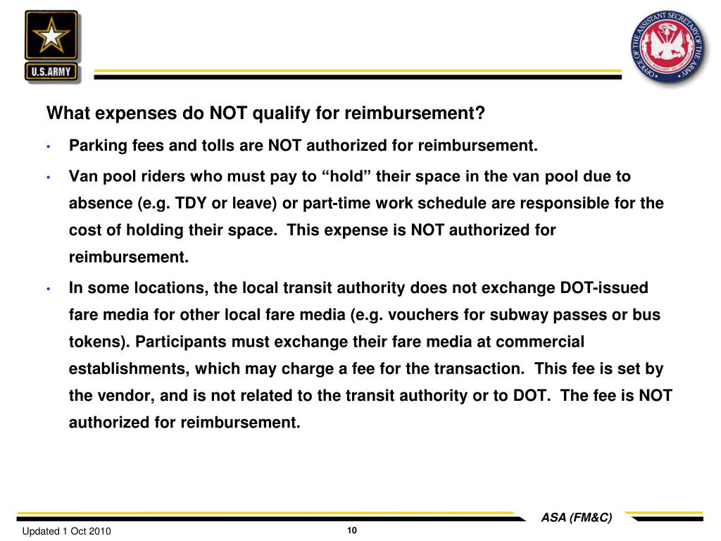 What expenses do NOT qualify for reimbursement?
