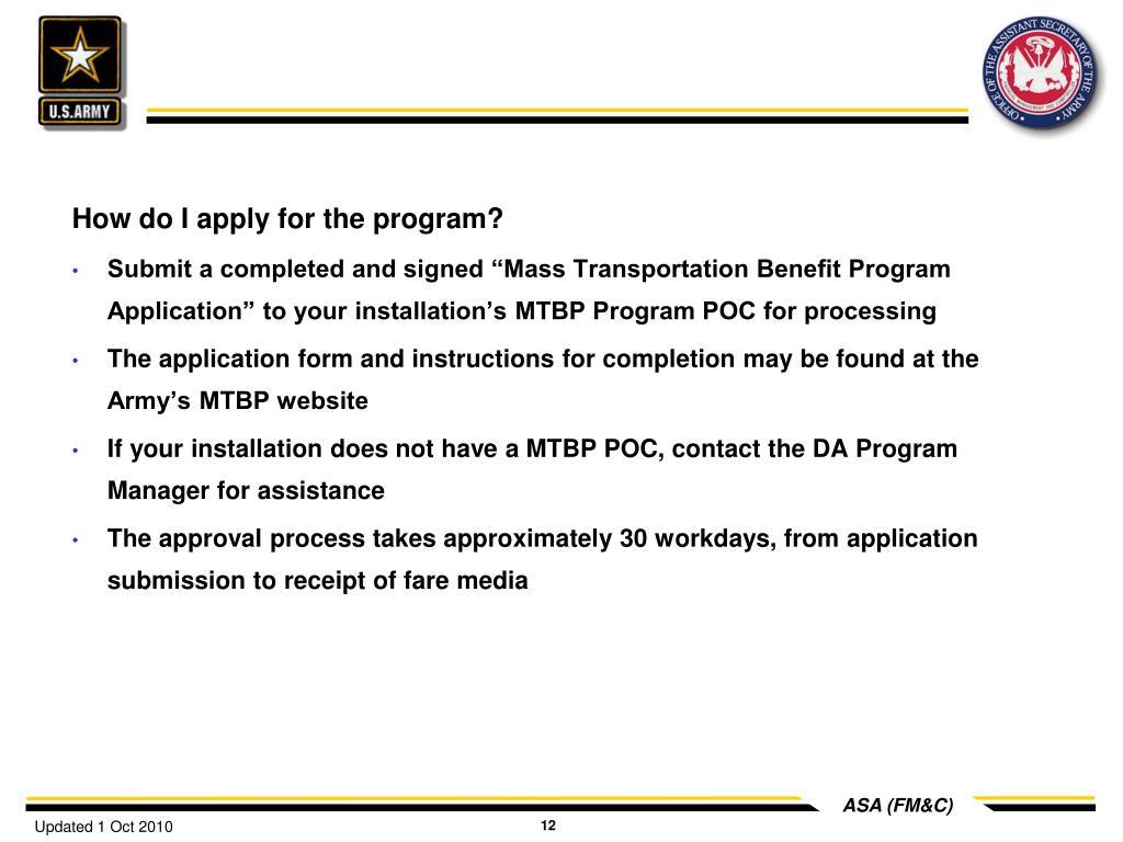 How do I apply for the program?