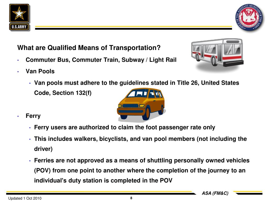 What are Qualified Means of Transportation?