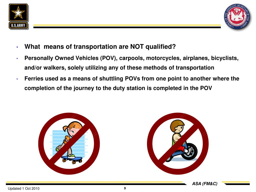 What  means of transportation are NOT qualified?