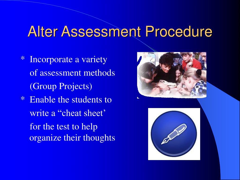 Alter Assessment Procedure