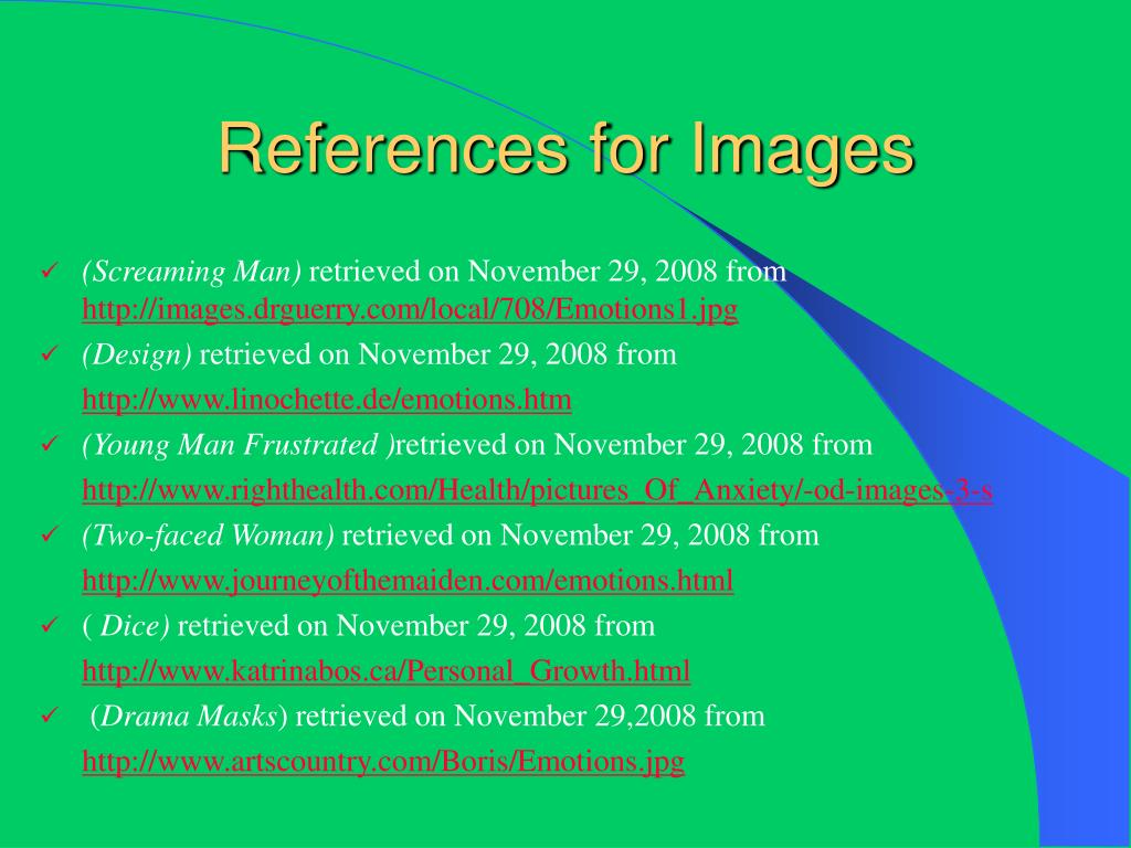 References for Images