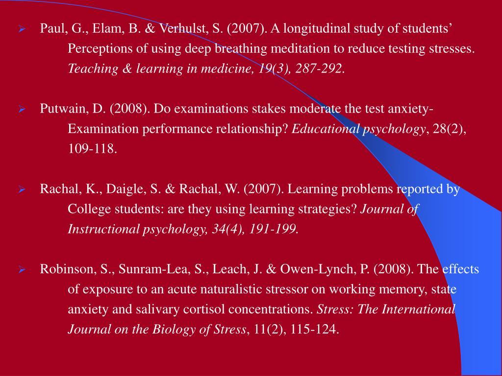 Paul, G., Elam, B. & Verhulst, S. (2007). A longitudinal study of students'