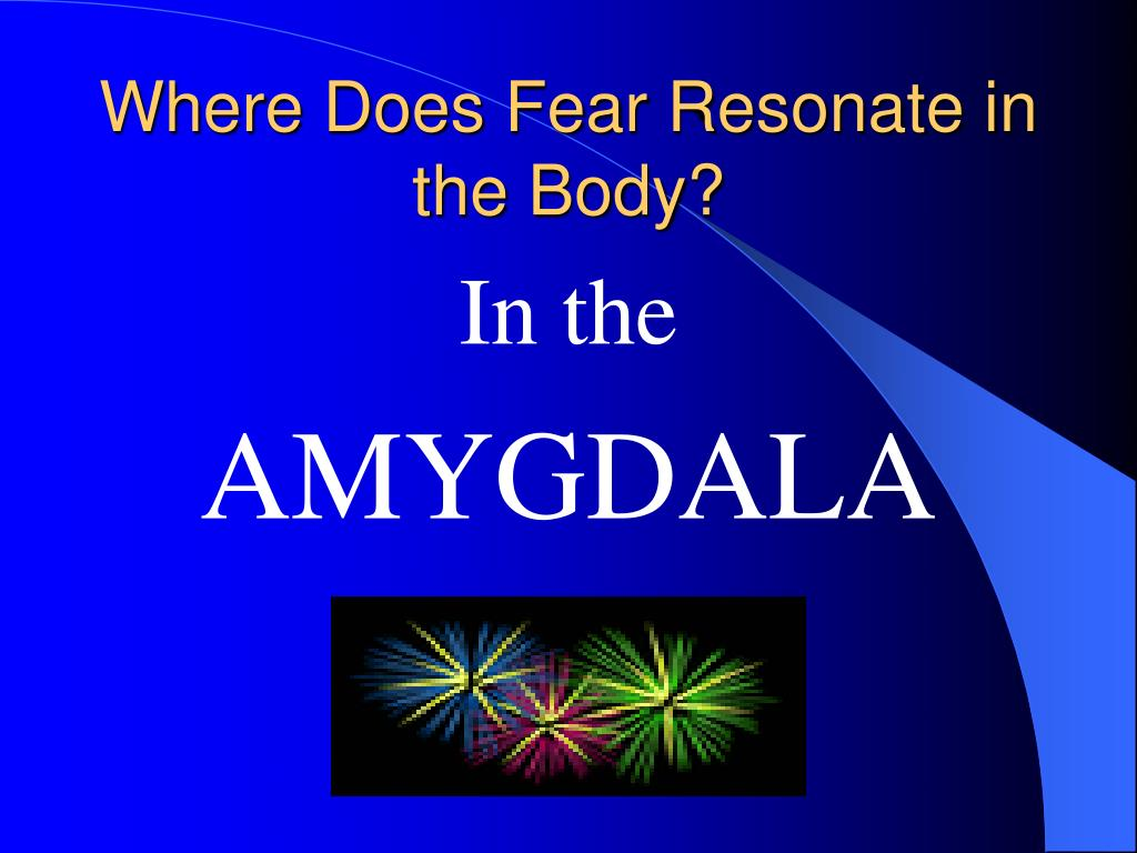 Where Does Fear Resonate in the Body?