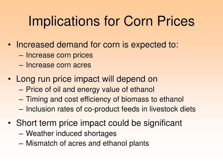 Implications for Corn Prices