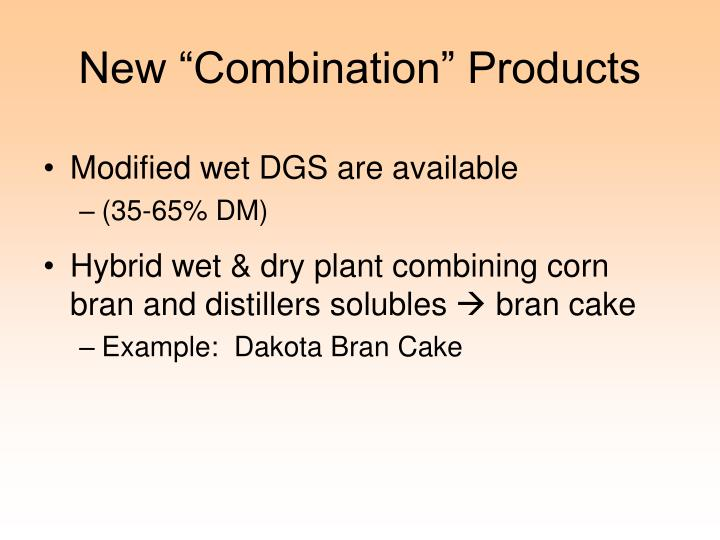 """New """"Combination"""" Products"""