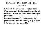 developing oral skills continued5