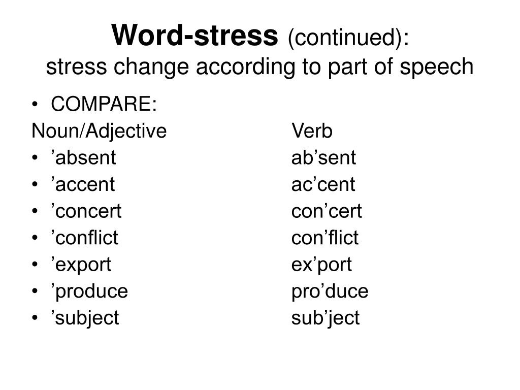 Word-stress