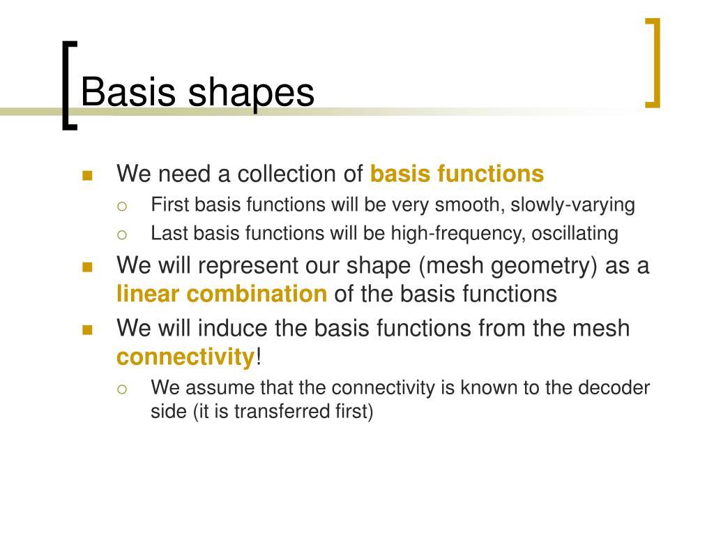 Basis shapes