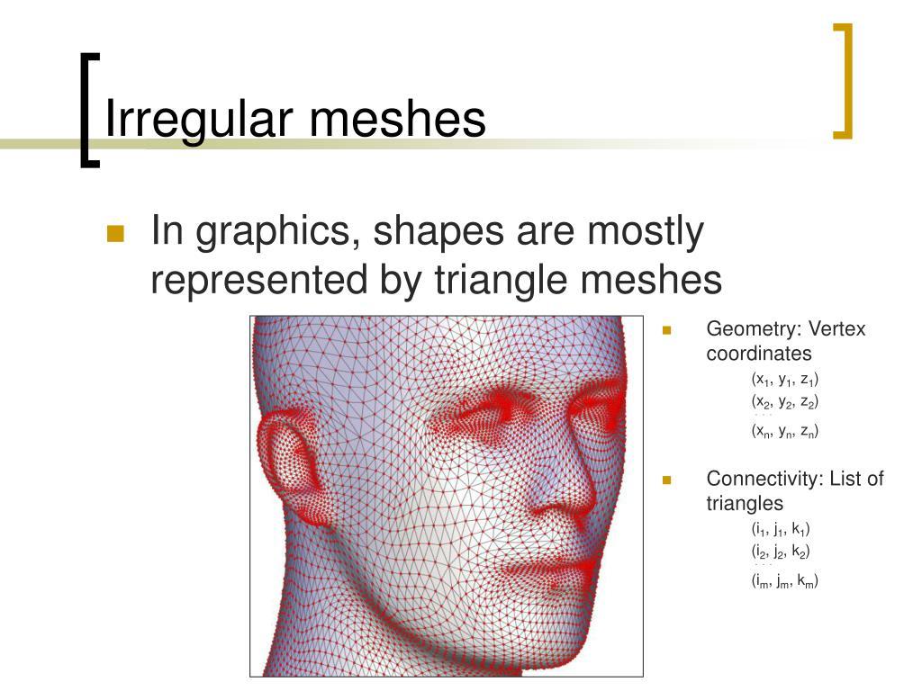 Irregular meshes