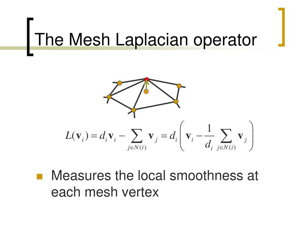 The Mesh Laplacian operator