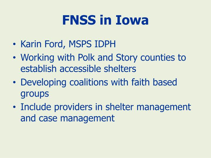 FNSS in Iowa