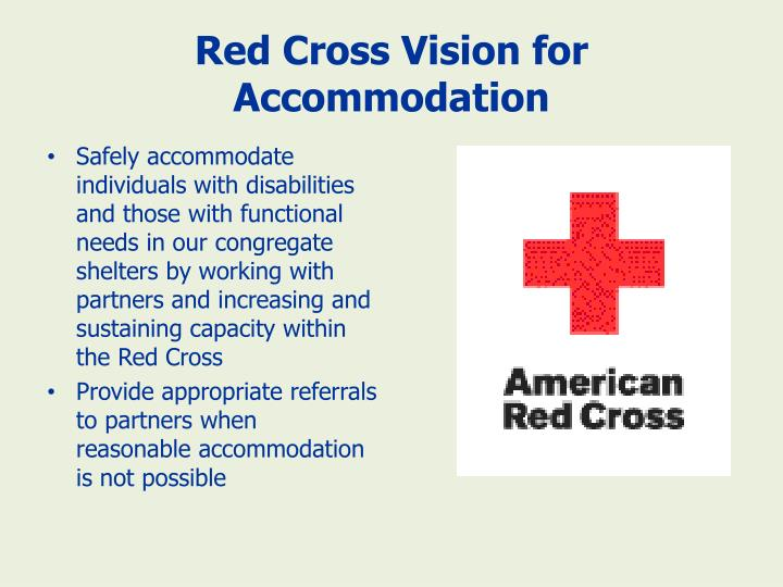 Red Cross Vision for Accommodation