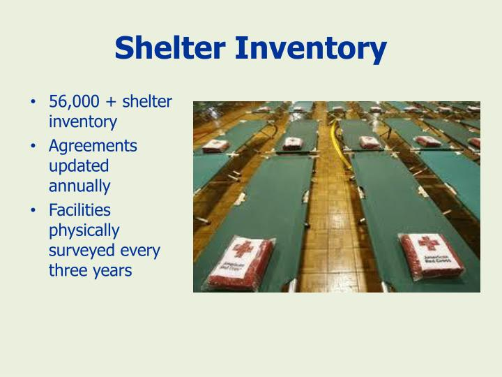 Shelter Inventory