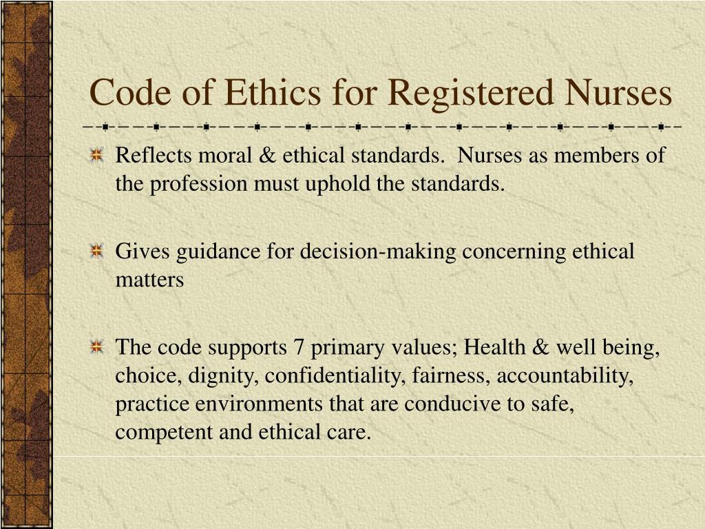 Code of Ethics for Registered Nurses