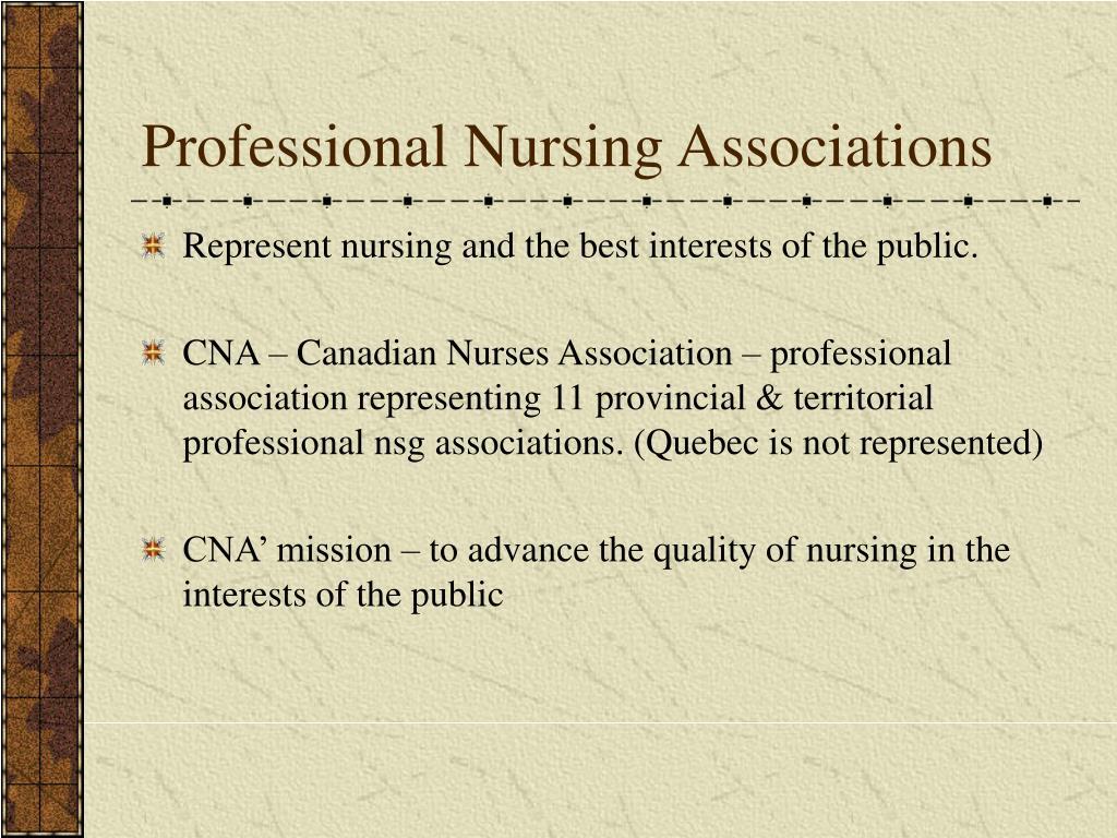 Professional Nursing Associations