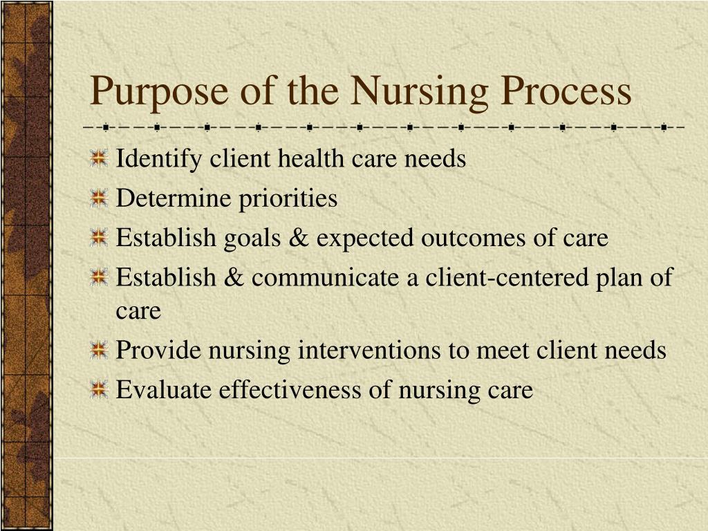 Purpose of the Nursing Process