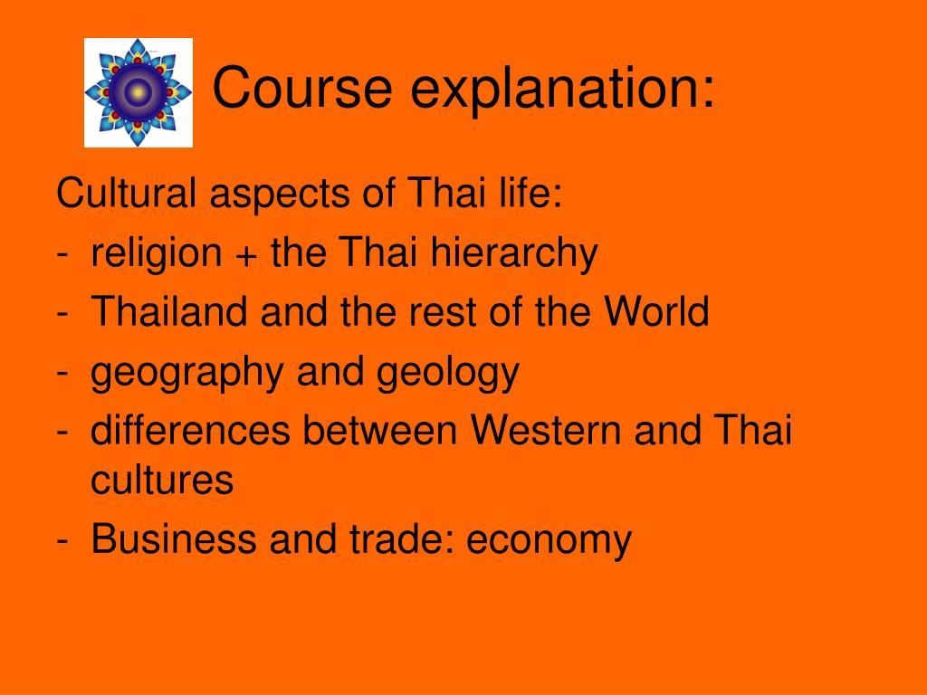Course explanation: